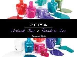 Zoya Island Fun & Paradise Sun 2015 Collection Nail Polish Choose Your Colors!