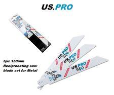 US PRO Tools 5 x 150mm Reciprocating Recip Saw Blades For Metal 18TPI 9134