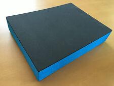 Koffereinlage aus Hart-Schaumstoff f. Sortimo Metallkoffer KM 320 grau-blau 60mm