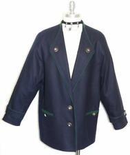 """BLUE WOOL JACKET Women German Dress Over Coat 42 14 L B45"""""""