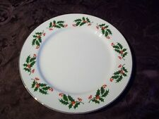 CHRISTMAS HOLLY DINNER PLATE MADE IN JAPAN