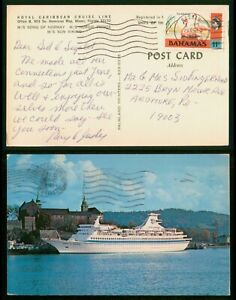 Mayfairstamps Bahamas 1973 Nassau MS Sun Viking To Ardmore PA Ship Postcard wwp8