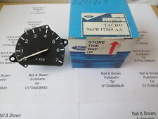 FORD Escort Mk6 Fiesta tachometer black cfi or efi rev counter Part No 7123968