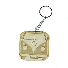 Camper PERSONALISED PICTURE  KEY RING Laser engraved classic