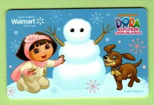 WALMART ( Canada ) Dora the Explorer Building Snowman 2011 Gift Card ( $0 )