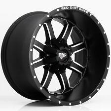 "4-NEW RDR RD01 Dirt 20x12 5x5""/5x5.5"" -44mm Black/Machined Wheels Rims"