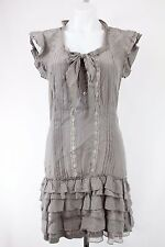 NWT EDC by Esprit Grey Short Sleeve Shift Dress Size 36/6