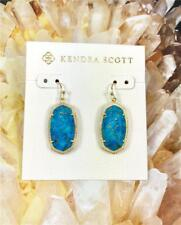 Veined Turquoise Gold Earrings New Kendra Scott Dani Bronze