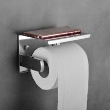 304 Stainless Steel Bathroom Toilet Paper Tissue Roll Twin Holder Phone Bracket
