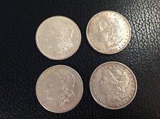 A Lot of 4 Pre 1921 $1 Morgan Silver Dollars, 1879 O, 1882, 1899O, 1900 b10i
