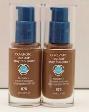 2X Covergirl Outlast Stay Fabulous 3 in 1 Foundation SPF 20 Color 875 Soft Sable