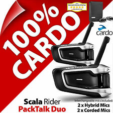 Nuevo Cardo Scala Rider PackTalk Duo Intercomunicador Auriculares Bluetooth Casco de Motocicleta