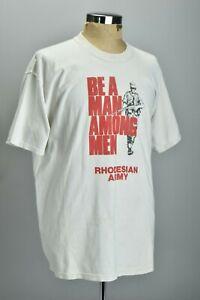 """Be A Man Among Men"" Rhodesian Army Large Size T-shirt. CHB"