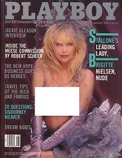 US Playboy Magazine 1986-08 Brigitte Nielsen, Ava Galore, Lilian Müller