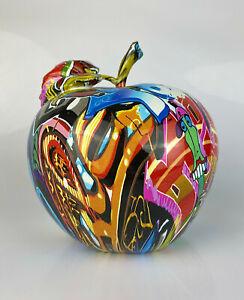 Multicolour Graffiti Street Art Urban Large Apple Ornament Figurine Fruit Unique