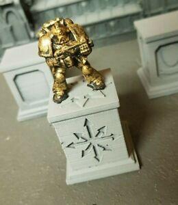 Warhammer 40k/Age of Sigma Chaos Statue Plinth x2
