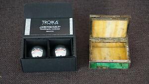 Schmuckdose Truhe Silber versilbert Sterling Silver 925 Malachite Box Troika RAR