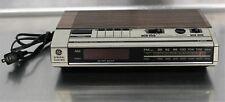 General Electric Vintage Digital AM/FM Radio Alarm Clock GE Woodgrain 7-4634B