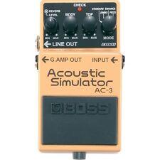 BOSS AC-3 Acoustic Guitar Modeling Simulator Effects Pedal +Picks