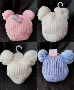 BABY BOYS & GIRLS POMPOM HATS UP TO 24 MONTHS