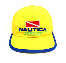 VTG 90s NAUTICA SCUBA NYLON 6 PANEL BUCKLE BACK HAT OG CAP CYCLE SPORT 1992 POLO