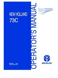 NEW HOLLAND 73C HEADERS OPERATOR`S MANUAL
