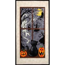 HALLOWEEN Fabric Cotton Craft Quilting Large Panel Dancing in the Shadows 24x44