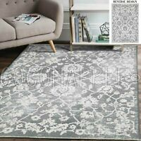 Georgia Classic Reversible Grey Modern Floor Rug - 4 Sizes **FREE DELIVERY**