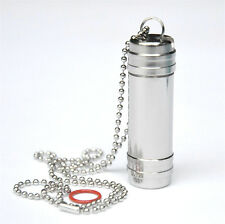 Titanium Portable Pill Box Waterproof AA Container Outdoor EDC Tool Gift (A)