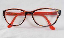 Kensie *Gorgeous* HANDMADE Orange Multi Color Cat Eye Eyeglass Frames 51[]16-135