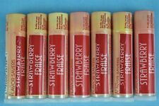 """LOT of 7 Discontinued """"Strawberry""""- Flavor Savers Lip Balm by AVON - NEW/SEALED"""