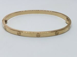 Gently Used Cartier 18k Yellow Gold Love Bracelet Size 16 Fits up to 6 in Wrist