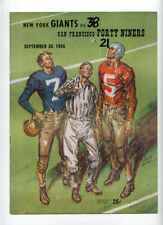 San Francisco 49ers New York Giants **VTG** 1956 Program Gifford Lombardi Landry
