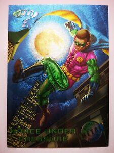 DC Comics Fleer 1995 B22 carte card Batman Metal Forever 71 Grace under pressure
