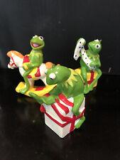 Set Of Three vintage kermit the frog christmas ornament 1980's Vntg 1981