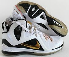 NIKE LEBRON 9 P.S ELITE JAMES HOME WHITE-GOLD-BLACK SZ 11 [516958-100]