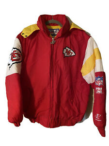 Vintage Pro Line Logo Athletic Kansas City Chiefs Jacket w/ Hood Youth XL 18-20