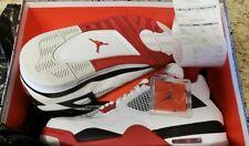 """Jordan Retro 4 IV """"Fire Red"""" Varsity White Black Size 12 DS New 2012 Deadstock"""