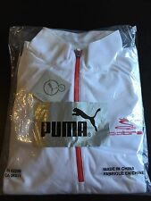 Brand New PUMA Cobra Golf Jacket White Red Men's Medium Long Sleeves