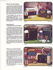 VINTAGE AD SHEET #3036 - ALADDIN THEMOS BOTTLES - U.S. MAIL