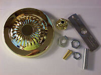 """5"""" BRASS PLATED CEILING CANOPY KIT FOR LIGHT FIXTURES CHANDELIERS NEW 54606J"""