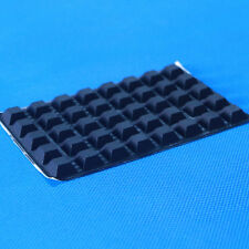 Self Adhesive Square Black Castle Small Rubber Feet Bumpers (40)