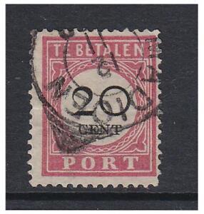 Pays-Bas Indes - 1892/1909, 20c Rose & Noir Envoi A Cause De - G / U - Sg D106