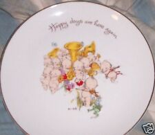 Wwa Authentic Collectible Plate Kewpies 1973