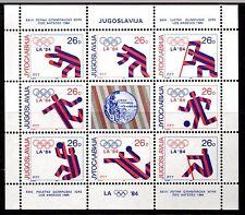 Yugoslavia - 1984 Olympic medal winners Los Angeles Mi. 2075-82 KB MNH