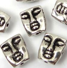 10 Silver Pewter Meditator Face Head Beads 12x10mm ~ Lead-Free