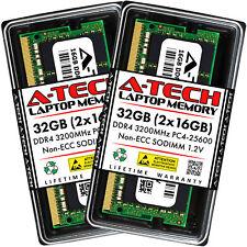 A-Tech 32 ГБ 2x 16 ГБ PC4-25600 для ноутбука Sodimm DDR4 3200 МГц Non-ECC память ОЗУ 32G