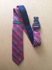 Tommy Hilfiger Vintage Slim Cravatta di seta nuovo con etichetta rosa controllare