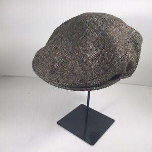 GRUPPO BORSALINO - Flat Cap - Lt Brown/ Gray -speckled dot - wool - MODEL:D12033