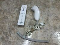Official Nintendo OEM Wii Remote Wiimote Controller White RVL-003 W/Nunchuck #C1